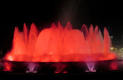Magic Fountain of Montjuic in Barcelona Stock Image