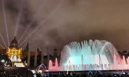 Magic Fountain of Montjuic Barcelona 2 Royalty Free Stock Image