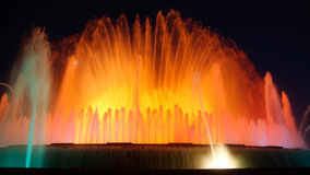 Magic Fountain of Montjuic, Barcelona, Spain Stock Photography