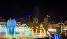Magic Fountain of Montjuic in Barcelona Stock Photography
