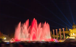 The Magic Fountain of Montjuic in Barcelona Stock Photos