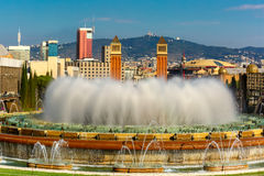 Magic Fountain of Montjuic in Barcelona, Spain Stock Photography