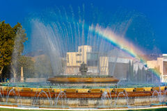 Magic Fountain of Montjuic in Barcelona, Spain Stock Photos