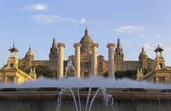Magic Fountain, Montjuic, Barcelona Royalty Free Stock Images