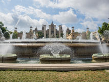 Magic Fountain of Montjuic Stock Photography