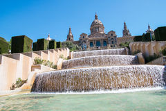 Magic Fountain, Montjuic, Placa Espanya, Barcelona Royalty Free Stock Photo