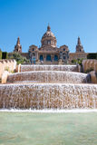 Magic Fountain, Montjuic, Placa Espanya, Barcelona Stock Photos