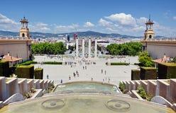 The Magic Fountain and Placa Espanya Royalty Free Stock Photo