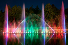 Magic fountain in Taiwan Royalty Free Stock Photography