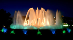 Magic fountains in Barcelona Royalty Free Stock Images
