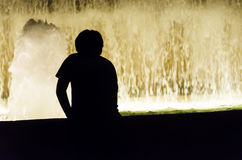Magic fountains, Barcelona Royalty Free Stock Image