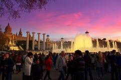 Magic fountains, Barcelona Royalty Free Stock Photo