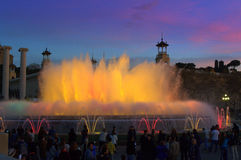 Magic fountains at twilight,Barcelona Stock Image