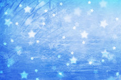 Magic frozen window with star shapes Royalty Free Stock Photo