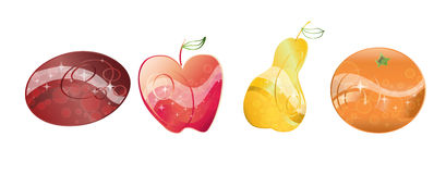 Magic fruits Stock Images
