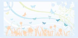 Magic Garden. A beautiful garden full of butterflies Royalty Free Stock Image