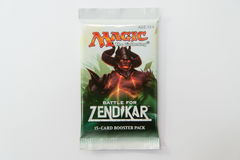Magic the Gathering Battle for Zendikar booster pack Stock Photos