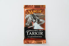 Magic the Gathering Dragons of Tarkir booster pack Royalty Free Stock Image