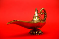 Magic Genie Lamp Royalty Free Stock Photography