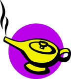 Magic genie lamp vector illustration Royalty Free Stock Photo