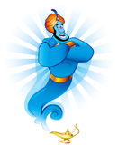 Magic genie Stock Photo