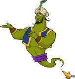 Magic genie. On white background vector Stock Images