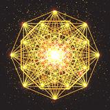 Magic geometry sign. Abstract sacred geometry. Stock Images