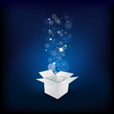 Magic gift box Royalty Free Stock Image