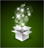 Magic gift box with a big surprise Royalty Free Stock Images