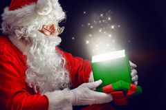 Magic gift box Royalty Free Stock Images