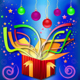 Magic gift-surprise by Christmas, New Year Stock Image