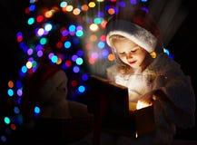 Magic in giftbox Royalty Free Stock Image
