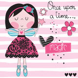 Magic girl fairy vector illustration Royalty Free Stock Images