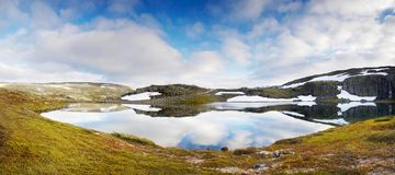 Magic Glacier Lake, Summer Mountain Landscape stock photo