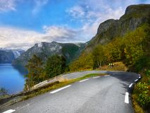 Magic Glacier Valley Road. The road to the magical, picturesque Glacier Valley royalty free stock image