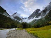 Magic Glacier Valley Road stock images