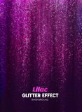 Magic Glitter Background in lilac Color. Poster Backdrop with Shine Elements. Magic Glitter Background in lilac Color. Vector Poster Backdrop with Shine Stock Image