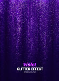 Magic Glitter Background in purple Color. Poster Backdrop with Shine Elements. stock illustration