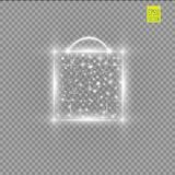 Magic glowing box on a transparent background Royalty Free Stock Photography