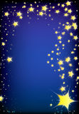 Magic gold comet. Magic comet or christmas card for background Stock Photography