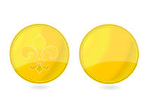 Magic gold tag emblems set Royalty Free Stock Photos