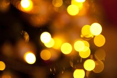 Magic golden christmas or new year background royalty free stock photos