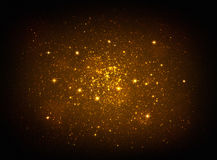 Magic golden stars light Royalty Free Stock Photos