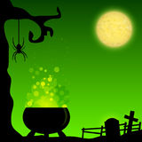 Magic Halloween background Stock Photos