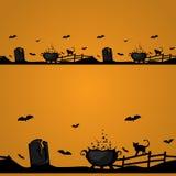 Magic Halloween border Stock Image