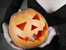 Magic Halloween pumpkin stock photos