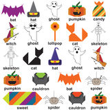 Magic Halloween Set Royalty Free Stock Photo