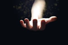 Magic hand Royalty Free Stock Image