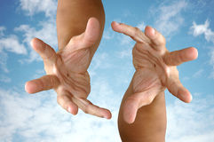 Magic hand. Magic hands royalty free stock photography