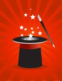 Magic hat. Illustration design Royalty Free Stock Images